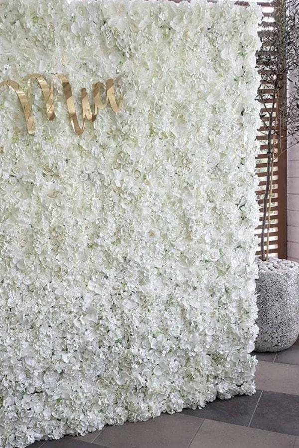 White Flower Backdrop For Wedding
