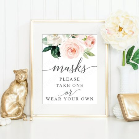 Please Take A Mask Printable Sign - Creative Union Design