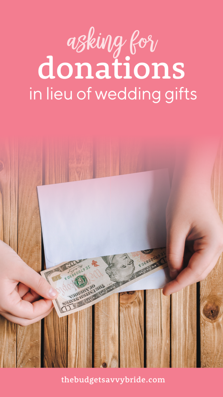 wedding donations for charity