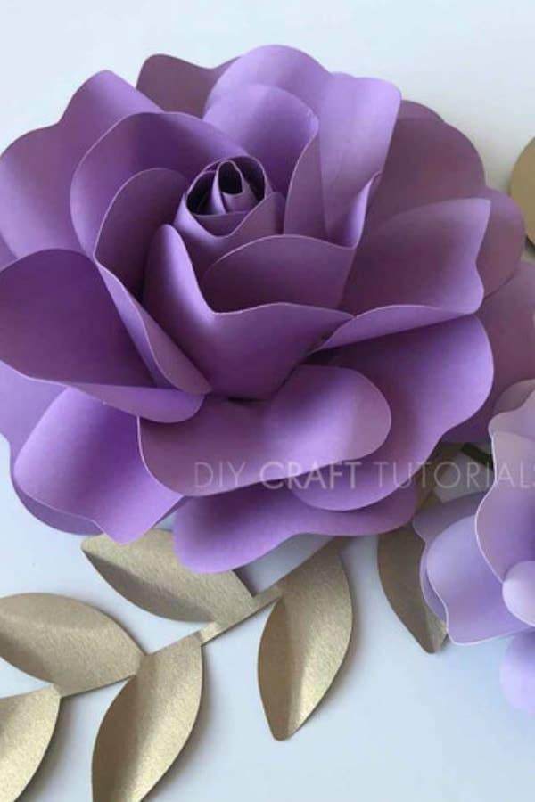3D Paper Flowers By DIYCraftTutorials