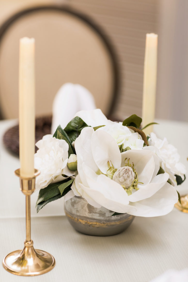 Something Borrowed Blooms Magnolia Centerpiece