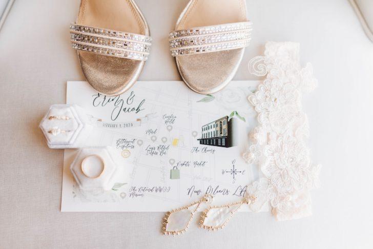 Custom wedding map illustration - Copper and Confetti Co.