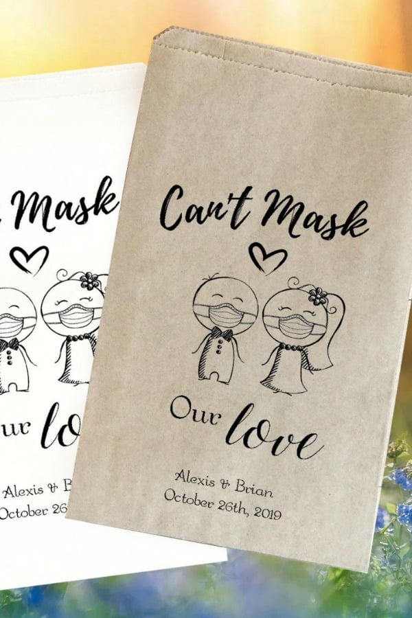 Can't Mask Our Love Favor Bags