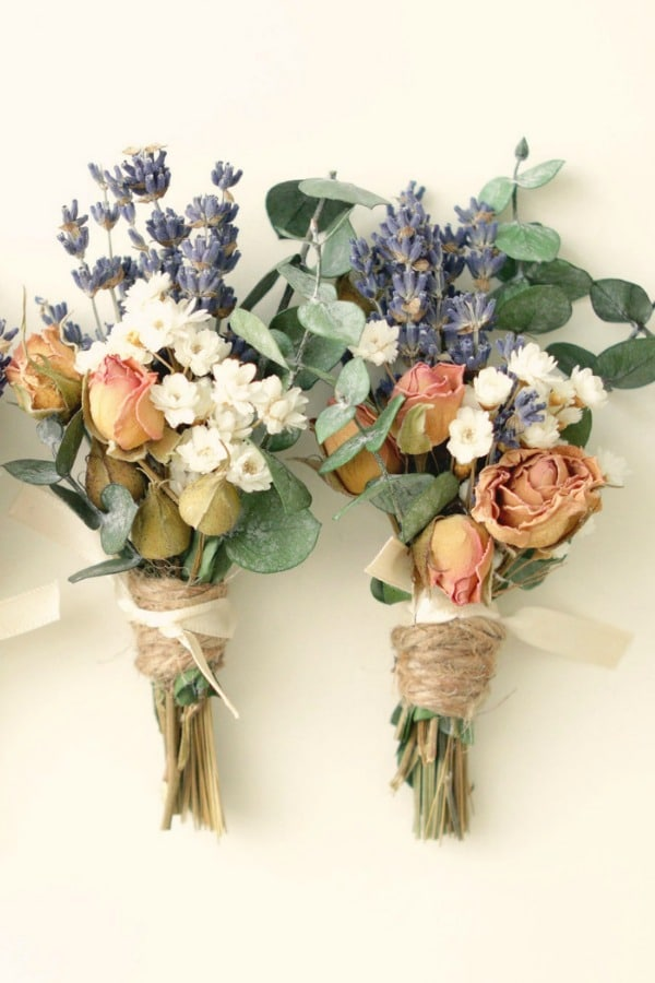 Dried Flower Spring Boutonniere By whichgoose