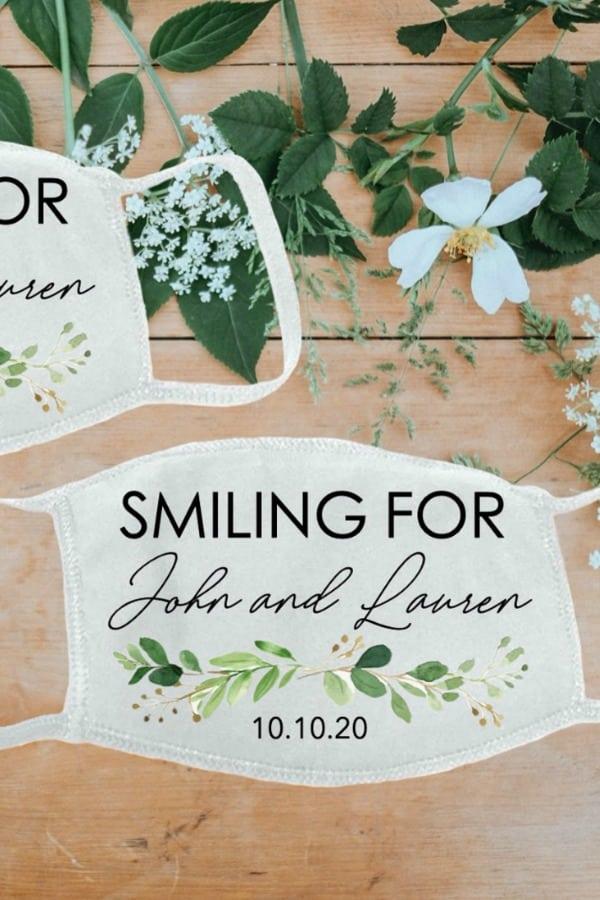 Custom Wedding Guests Face Masks