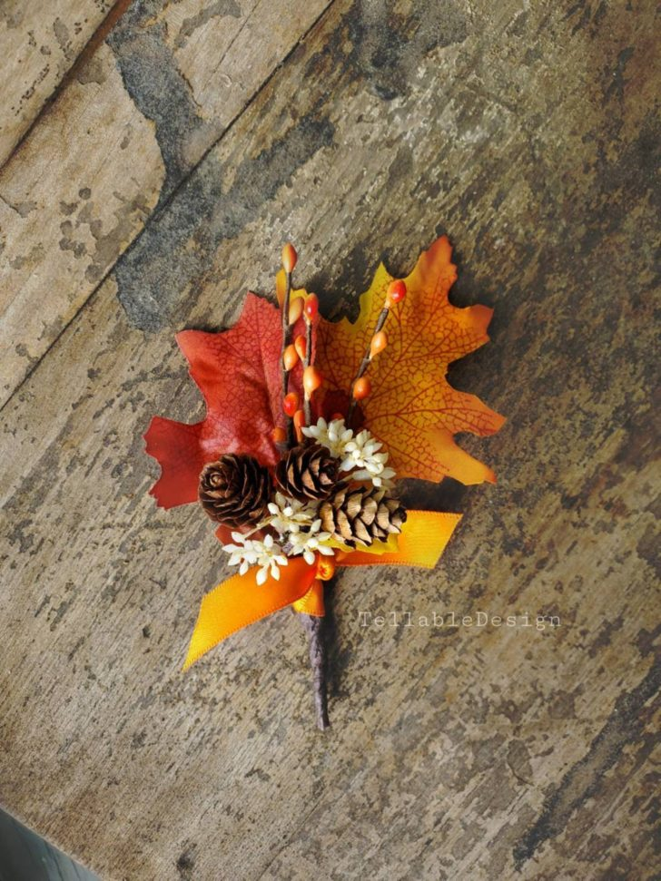 Fall Leaf Boutonniere