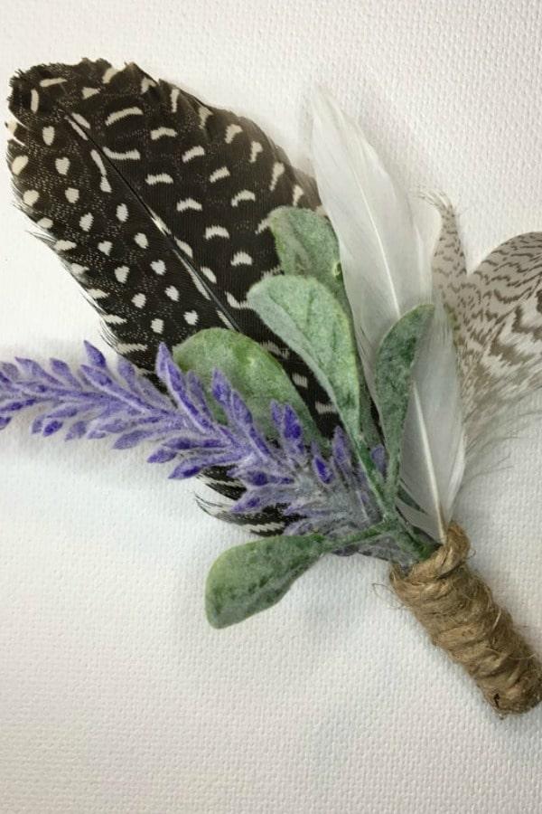 Fern And Flower Spring Wedding Boutonniere