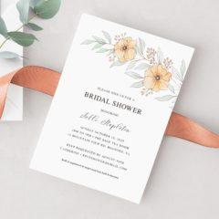 Orange Flowers Bridal Shower Invitation - MyCrayons Design