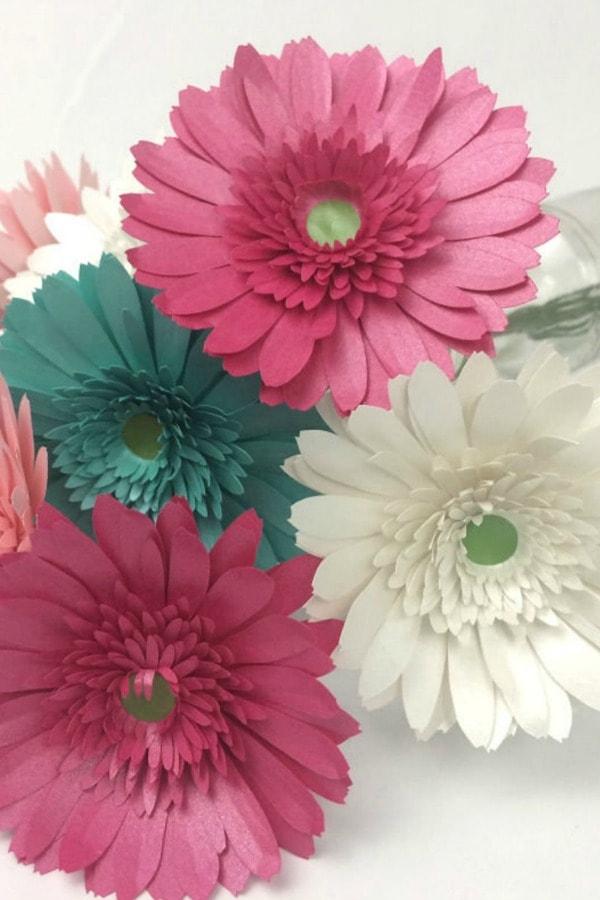 Paper Gerbera Daisy Template By SunflowerSummerCo