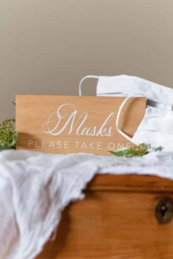 Please Wear a Mask Wedding Station Sign By HighOakandCo