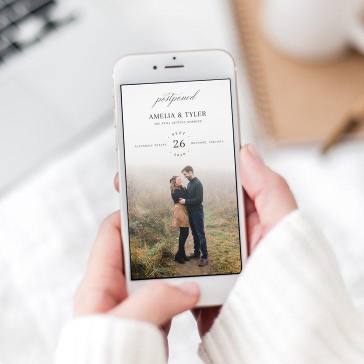 Digital Postponed Wedding Announcement MyCrayons Design