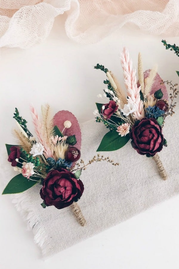 Rustic Autumn Boutonniere By SERENlTY