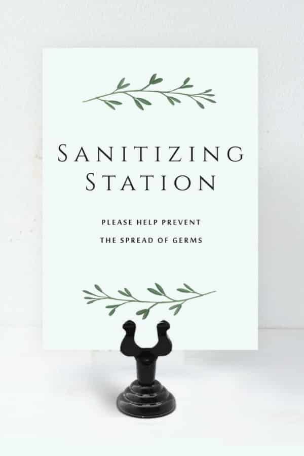 Sanitizing Sign with Stand By GreenRidgeDesigns