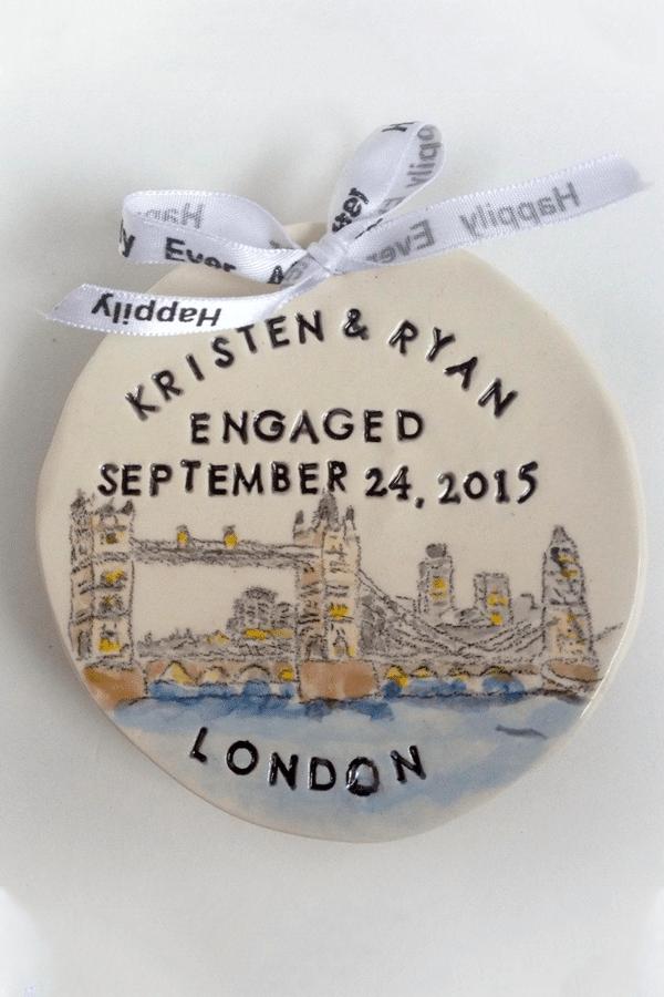 engagement gift ideas: Custom engagement ornament