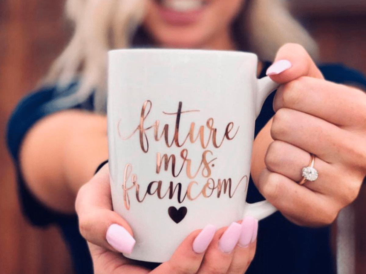 engagement gift ideas: future mrs mug