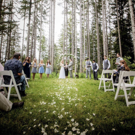 Intimate DIY Outdoor Wedding for $1k