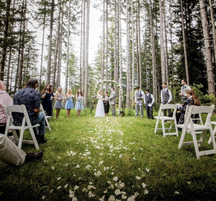Intimate DIY Outdoor Wedding for $1k
