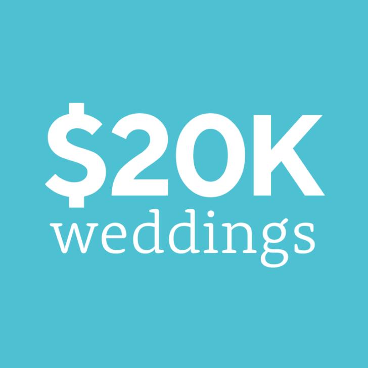Weddings on a $20,000 budget | $20K wedding budget