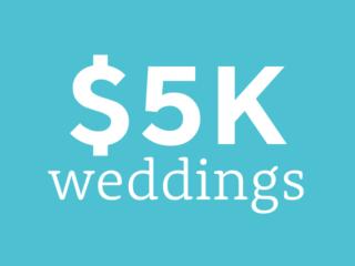 Weddings on a $5,000 budget | $5K wedding budget