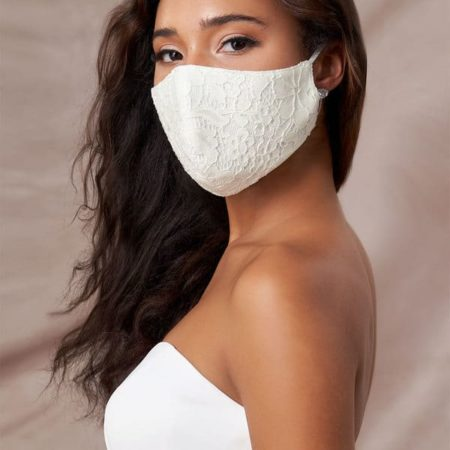 Ivory Lace Reusable Face Mask