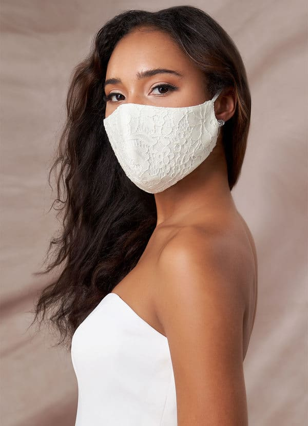 AZAZIE NON-MEDICAL IVORY LACE REUSABLE FACE MASK