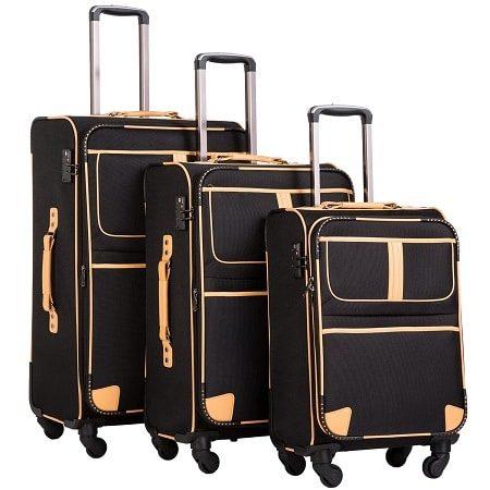 Coolife 3-Piece Suitcase Set with TSA Lock
