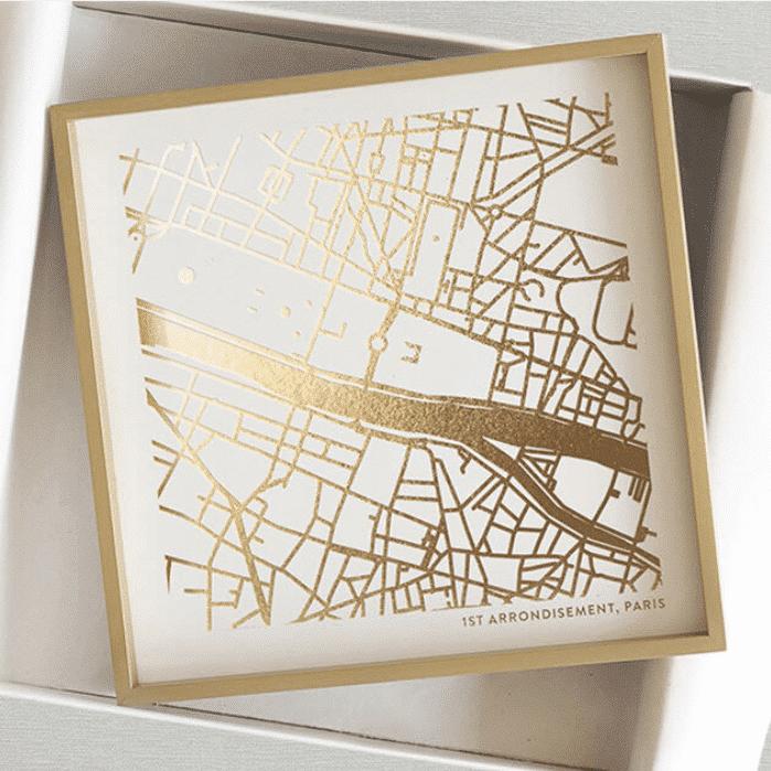 Custom Foil Pressed Map Gift Idea