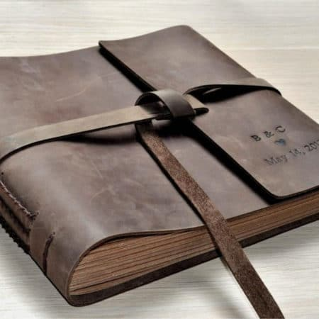 Leather-Bound Wedding Guestbook