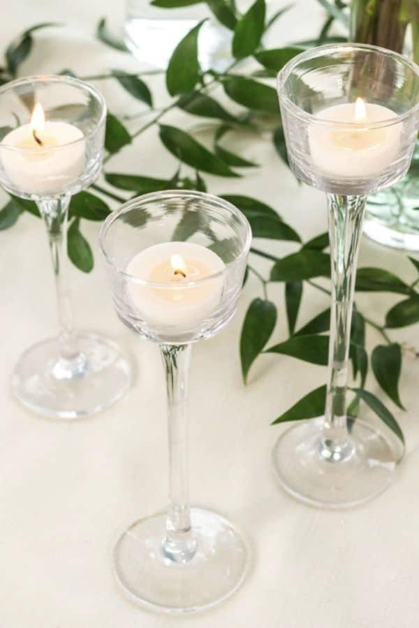 Long-Stemmed Tealight Candleholders  Dollar Tree Wedding Decor finds