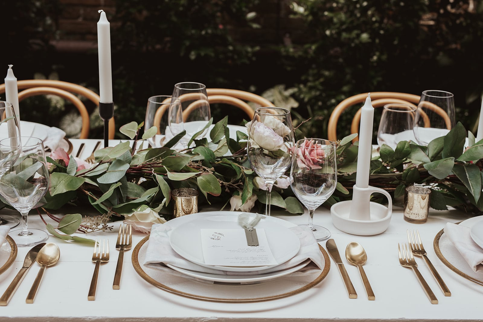 Styled intimate wedding inspiration - Parsonage - The Lovely Elopement