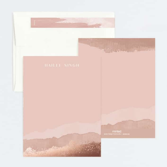 foil pressed stationery from Minted