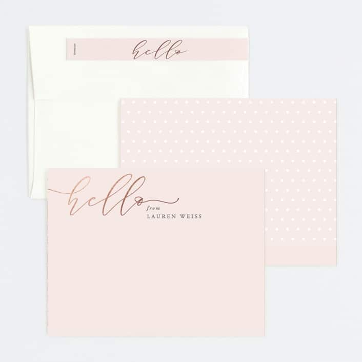 minted personalized stationery