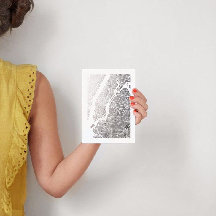 Foil Pressed City Map
