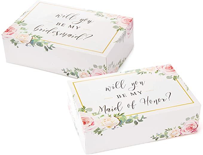 Pop Fizz Designs - Bridesmaid Proposal Box Set | 6 Pack | Floral