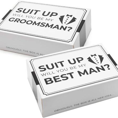 Tuxedo Groomsmen Proposal Box - 6 ct.