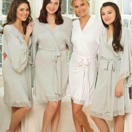 Jersey Lace Robe