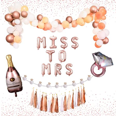 Miss to Mrs. Bachelorette Party Decorations Set