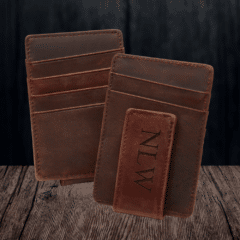 Grain+Oak Monogrammed Money Clip