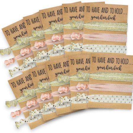 Pink & Gold Hair Ties - 10 Pack