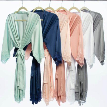 Satin Lace Robe
