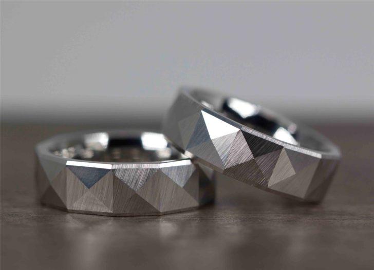 cobalt chrome wedding bands for men via Yates Jewelers