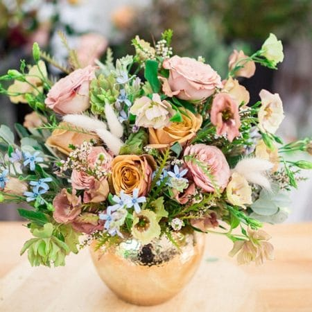 double duty bouquet centerpiece by bloom culture flowers