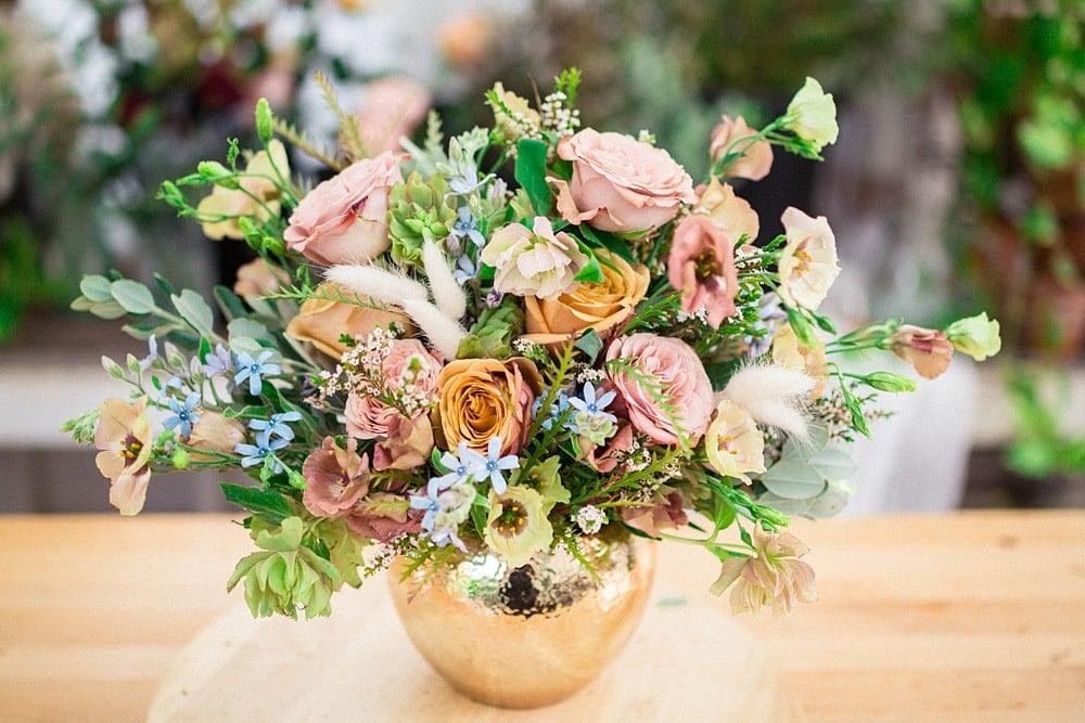 double duty bouquet centerpiece by bloom culture flowers