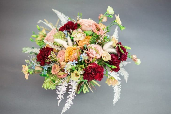 DIY Wedding Bouquet Tutorial from Alison Fleck of Bloom Culture Flowers  Double duty flower arrangements to use as bouquets and centerpieces!