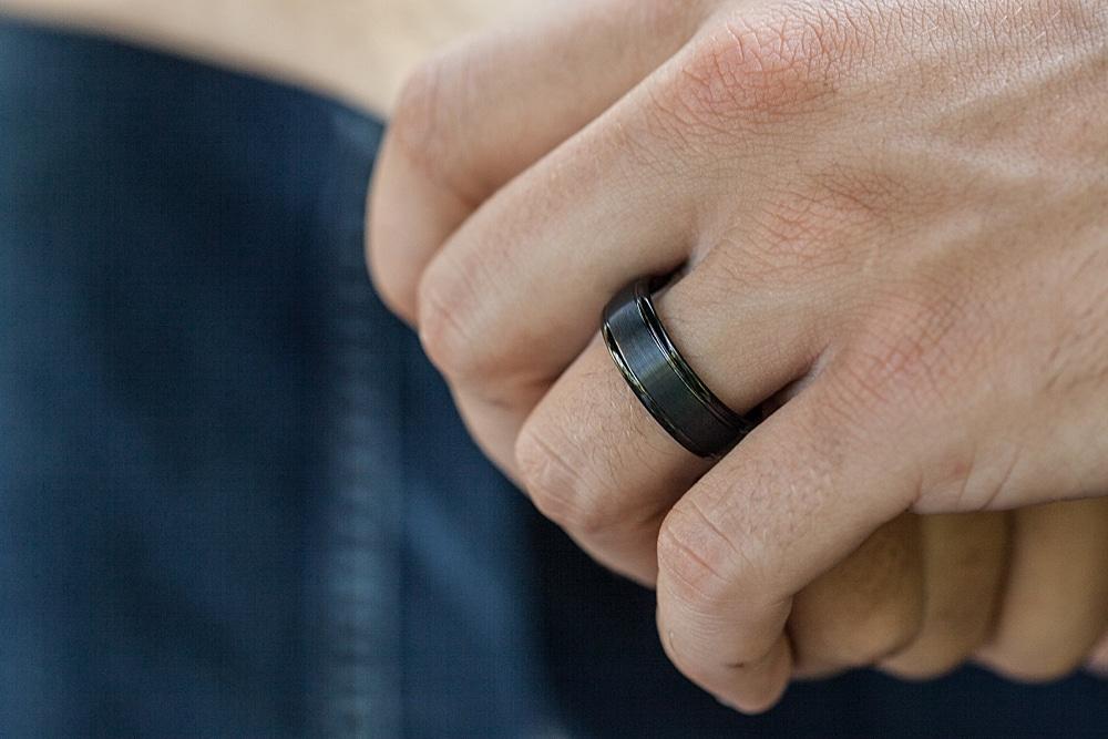 Foxtrot Bands Mens Wedding Rings
