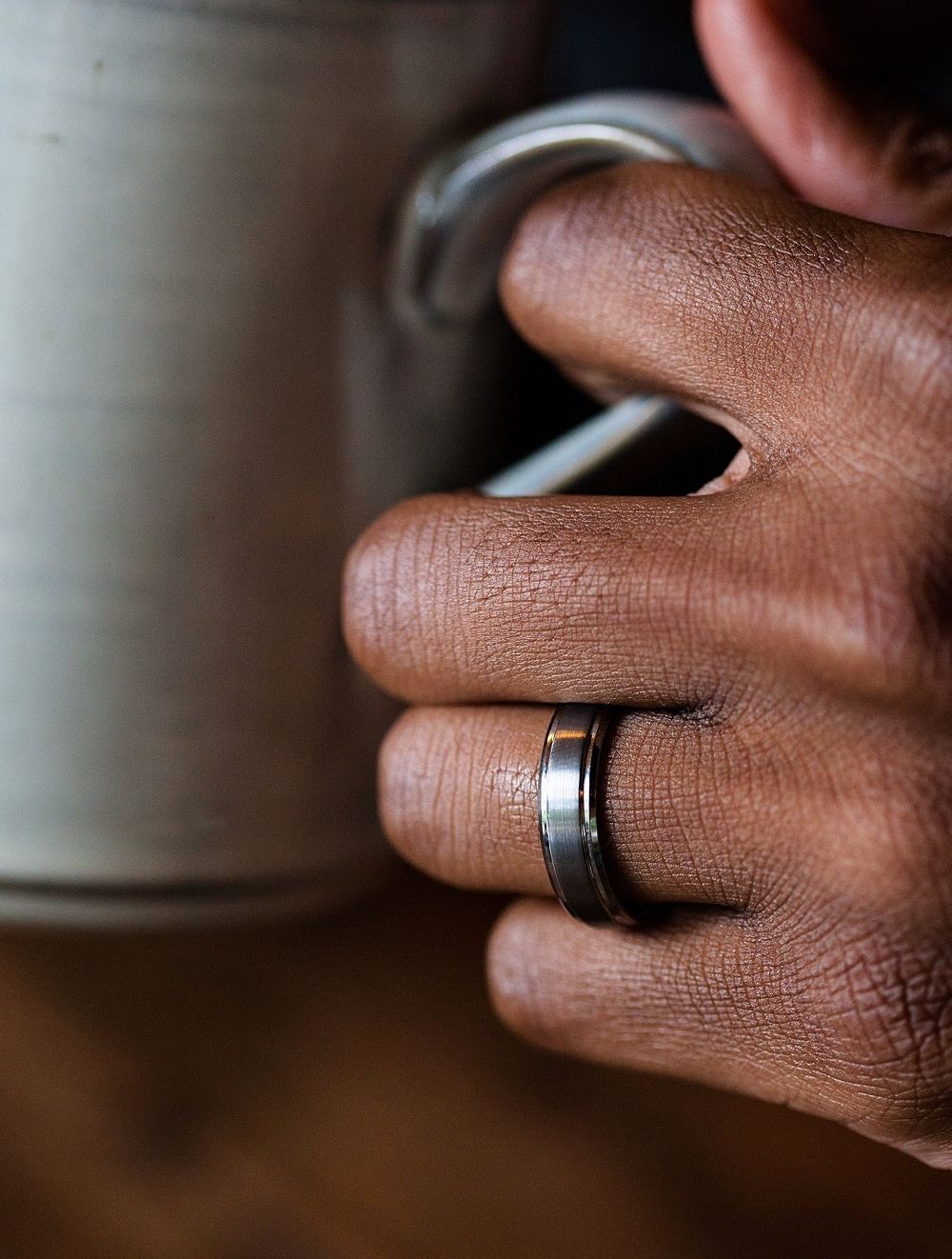 Foxtrot Bands - unique and affordable tungsten wedding bands for men