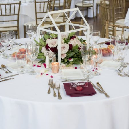 DIY Frame Wedding Centerpiece with Greenery and Flowers - Tutorial