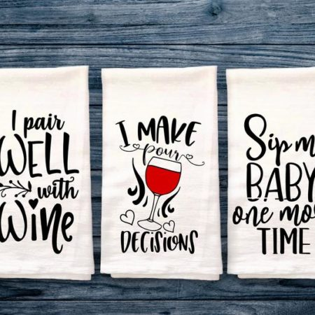 Funny Wine Kitchen Towels