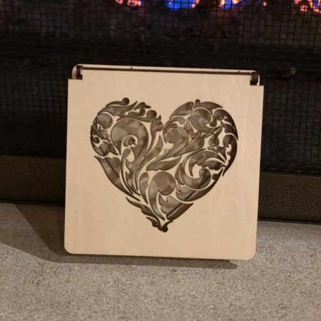 Laser-Cut Wood Ring Box