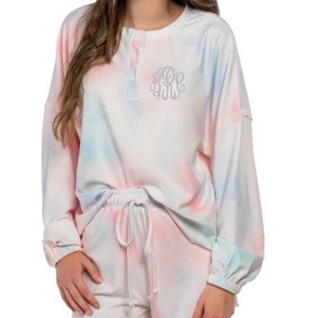 Personalized Tie-Dye Pajama Set